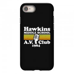 hawkins middle school av club iPhone 8 Case | Artistshot