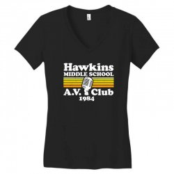 hawkins middle school av club Women's V-Neck T-Shirt | Artistshot