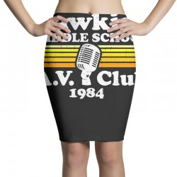 hawkins middle school av club Pencil Skirts | Artistshot