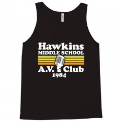 hawkins middle school av club Tank Top | Artistshot