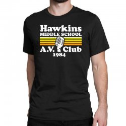 hawkins middle school av club Classic T-shirt | Artistshot
