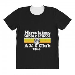 hawkins middle school av club All Over Women's T-shirt | Artistshot