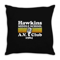 hawkins middle school av club Throw Pillow | Artistshot