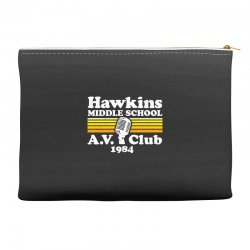 hawkins middle school av club Accessory Pouches | Artistshot