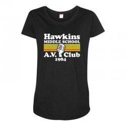 hawkins middle school av club Maternity Scoop Neck T-shirt | Artistshot