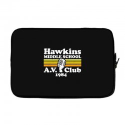 hawkins middle school av club Laptop sleeve | Artistshot