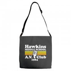 hawkins middle school av club Adjustable Strap Totes | Artistshot