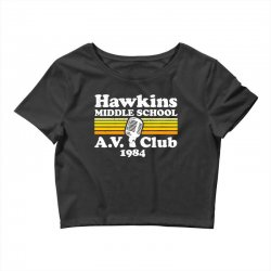 hawkins middle school av club Crop Top | Artistshot