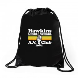 hawkins middle school av club Drawstring Bags | Artistshot