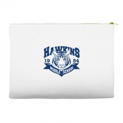 hawkins middle school tigers Accessory Pouches | Artistshot