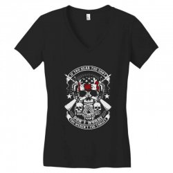 hear the shot Women's V-Neck T-Shirt | Artistshot