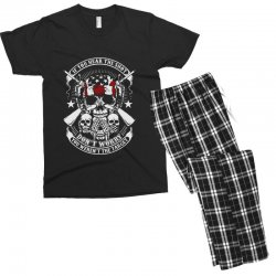 hear the shot Men's T-shirt Pajama Set | Artistshot