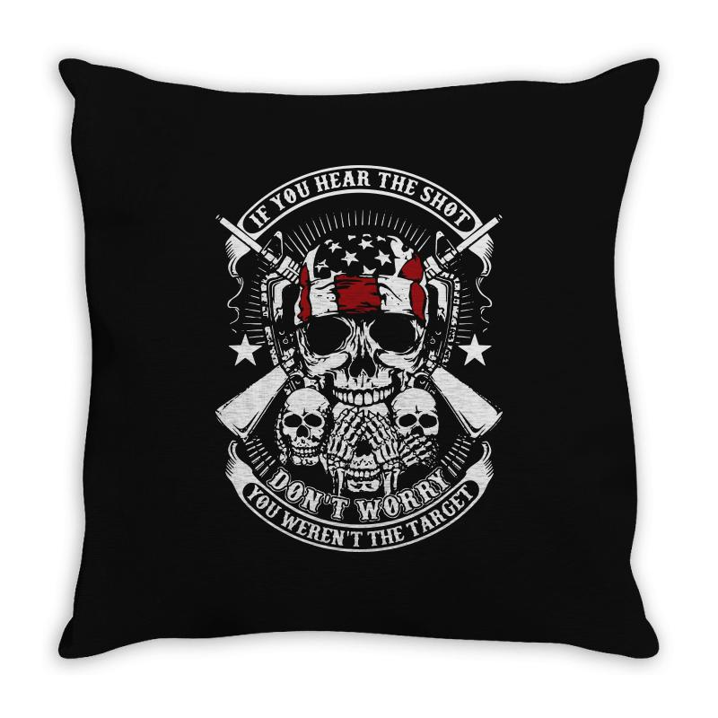Hear The Shot Throw Pillow | Artistshot
