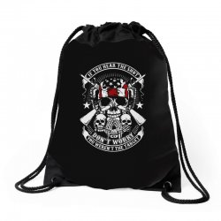 hear the shot Drawstring Bags | Artistshot