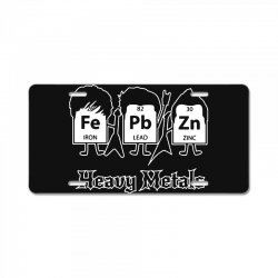 heavy metals periodic table science License Plate | Artistshot