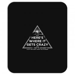 here's where it gets crazy Mousepad | Artistshot