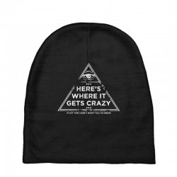 here's where it gets crazy Baby Beanies | Artistshot