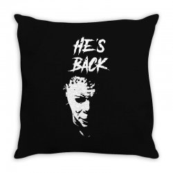 he's back Throw Pillow | Artistshot