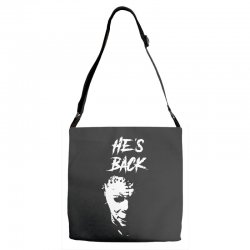 he's back Adjustable Strap Totes | Artistshot