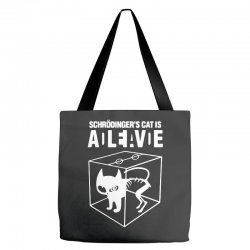 hilarious 2019 cat science funny schrodinger's cat Tote Bags | Artistshot