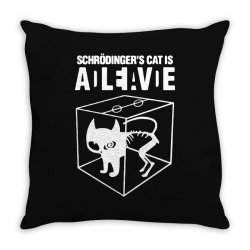 hilarious 2019 cat science funny schrodinger's cat Throw Pillow | Artistshot