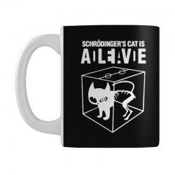 hilarious 2019 cat science funny schrodinger's cat Mug | Artistshot