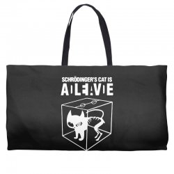hilarious 2019 cat science funny schrodinger's cat Weekender Totes | Artistshot