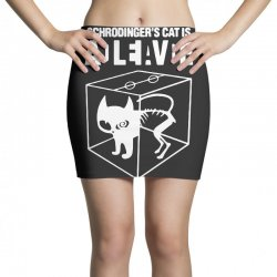 hilarious 2019 cat science funny schrodinger's cat Mini Skirts | Artistshot
