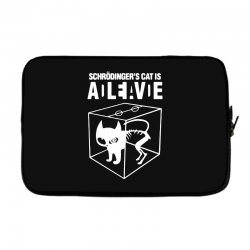 hilarious 2019 cat science funny schrodinger's cat Laptop sleeve | Artistshot