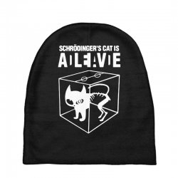 hilarious 2019 cat science funny schrodinger's cat Baby Beanies | Artistshot
