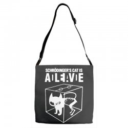 hilarious 2019 cat science funny schrodinger's cat Adjustable Strap Totes | Artistshot