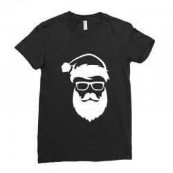 hipster santa claus Ladies Fitted T-Shirt | Artistshot