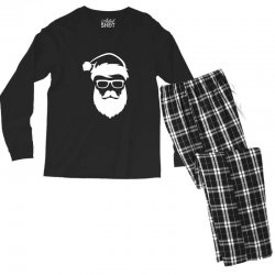 hipster santa claus Men's Long Sleeve Pajama Set | Artistshot