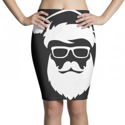 hipster santa claus Pencil Skirts | Artistshot