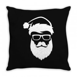 hipster santa claus Throw Pillow | Artistshot