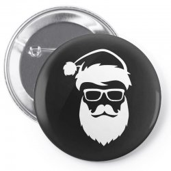 hipster santa claus Pin-back button | Artistshot