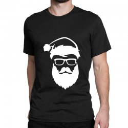 hipster santa claus Classic T-shirt | Artistshot