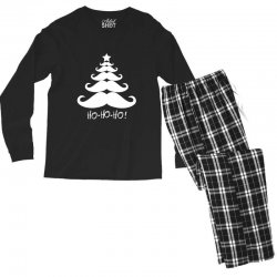 ho ho ho santa moustache christmas Men's Long Sleeve Pajama Set | Artistshot