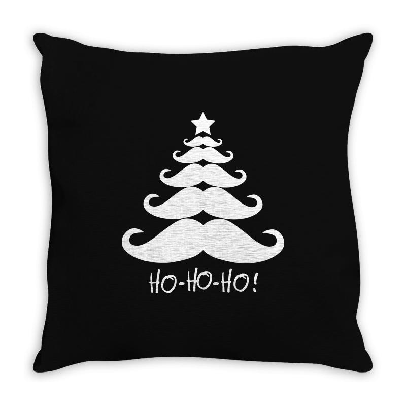 Ho Ho Ho Santa Moustache Christmas Throw Pillow | Artistshot