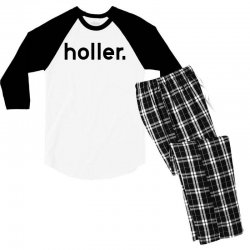 holler Men's 3/4 Sleeve Pajama Set | Artistshot