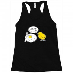 holy cow larry is that you funny Racerback Tank | Artistshot