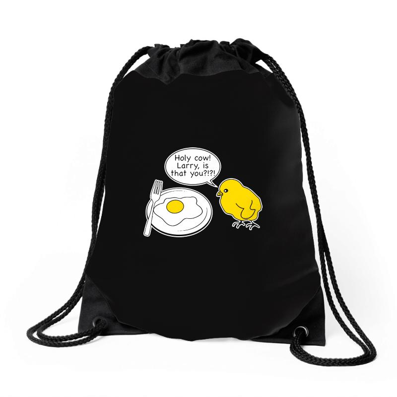Holy Cow Larry Is That You Funny Drawstring Bags | Artistshot