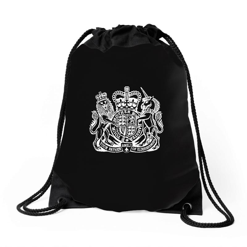 Holy Grail Uk Passport Drawstring Bags | Artistshot