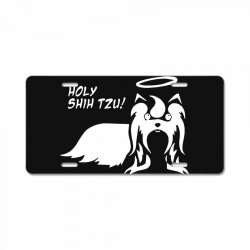 holy shih tzu License Plate | Artistshot