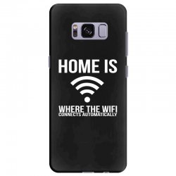 home is where the wifi connects teenager funny Samsung Galaxy S8 Plus Case | Artistshot