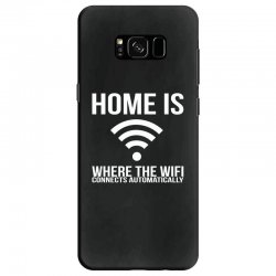 home is where the wifi connects teenager funny Samsung Galaxy S8 Case | Artistshot
