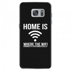 home is where the wifi connects teenager funny Samsung Galaxy S7 Case | Artistshot