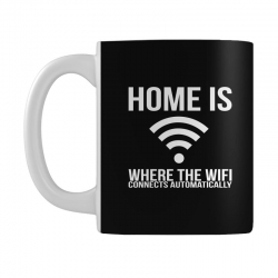 home is where the wifi connects teenager funny Mug | Artistshot