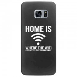 home is where the wifi connects teenager funny Samsung Galaxy S7 Edge Case | Artistshot
