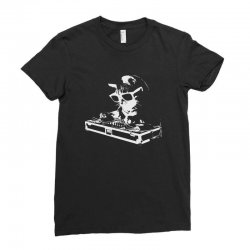 house cat rainbow dj kitty Ladies Fitted T-Shirt | Artistshot
